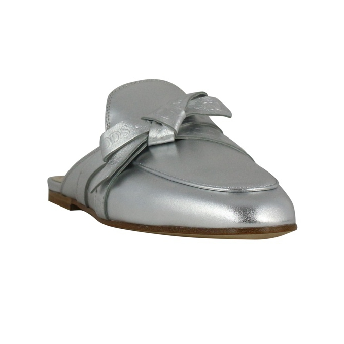 Sabot with bow Silver Tod's