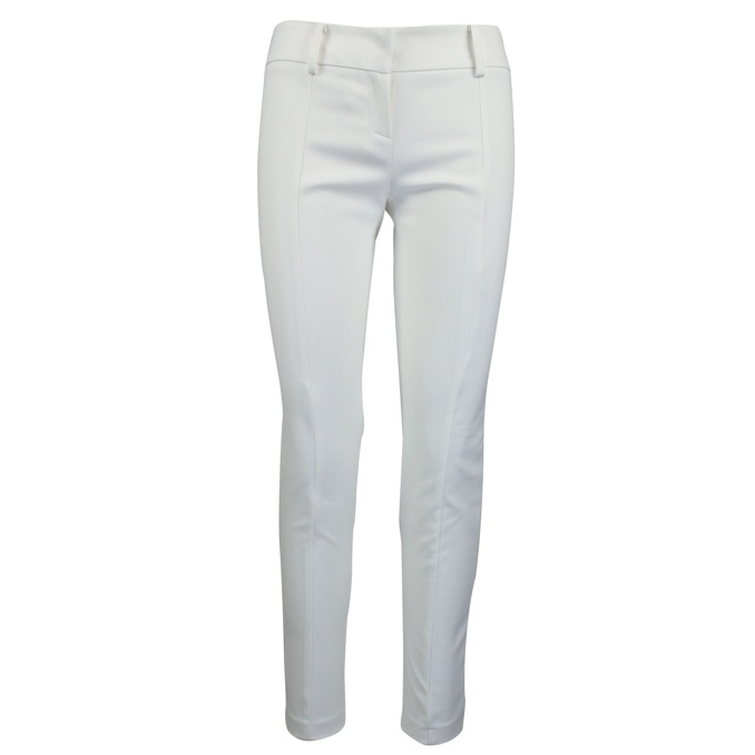 Slim cotton blend trousers White Patrizia Pepe