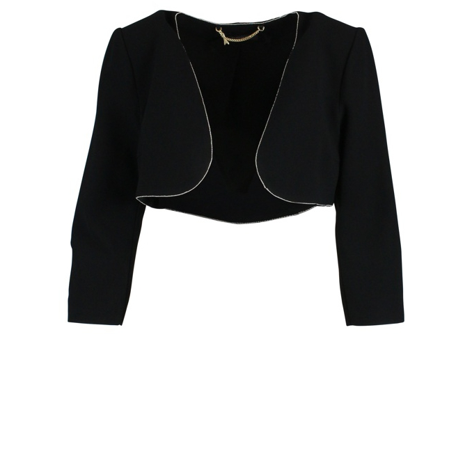 Short jacket with lamè thread Black Patrizia Pepe