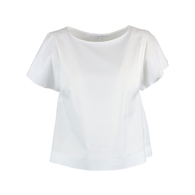 Stretch poplin top White Patrizia Pepe
