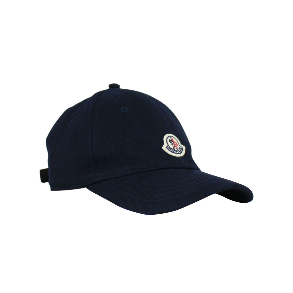 Hat with visor and logo Blue Moncler