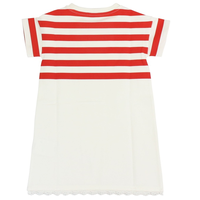 Stretch striped dress White red Moncler