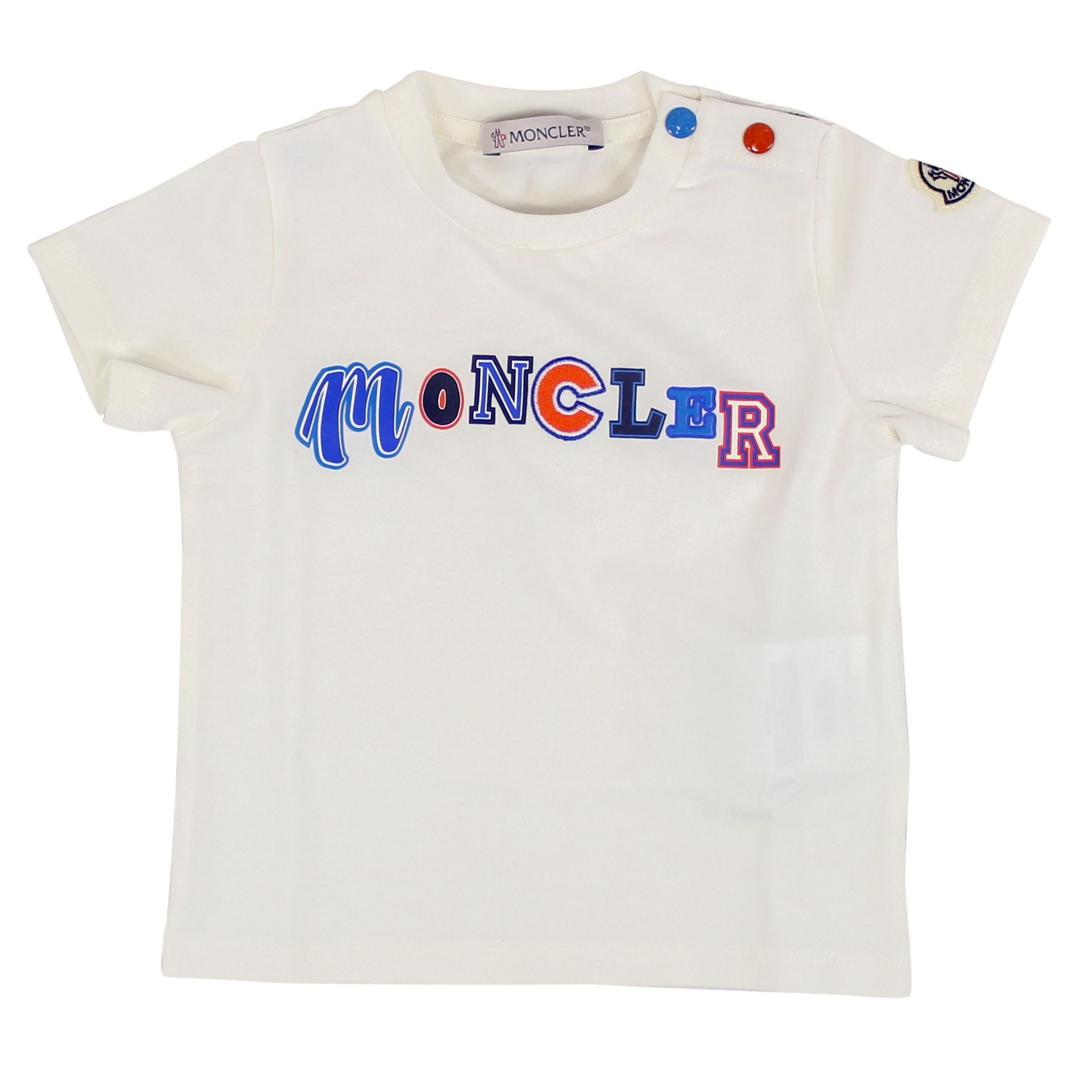 b5950361c3 T-shirt with buttons and multicolor logo