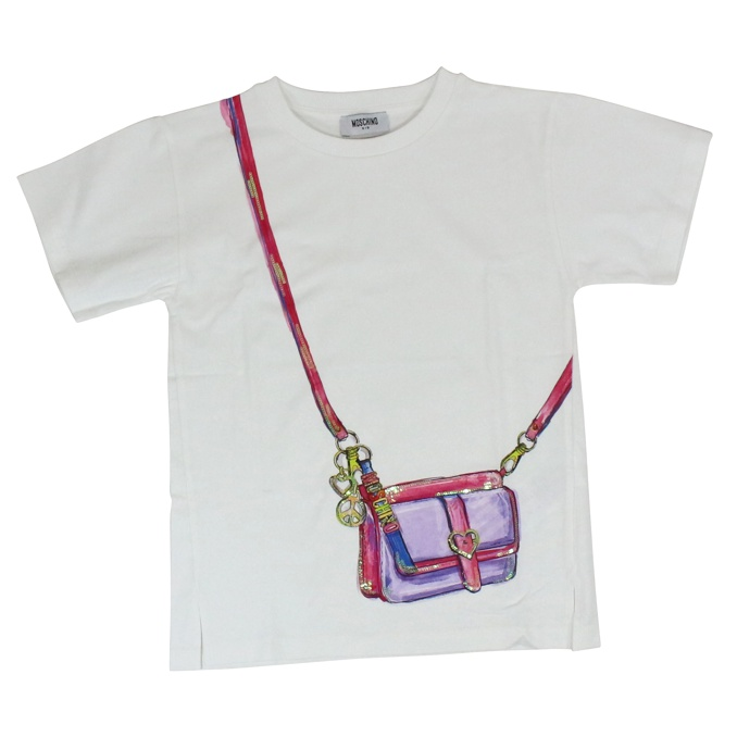 Bag print T-shirt White MOSCHINO