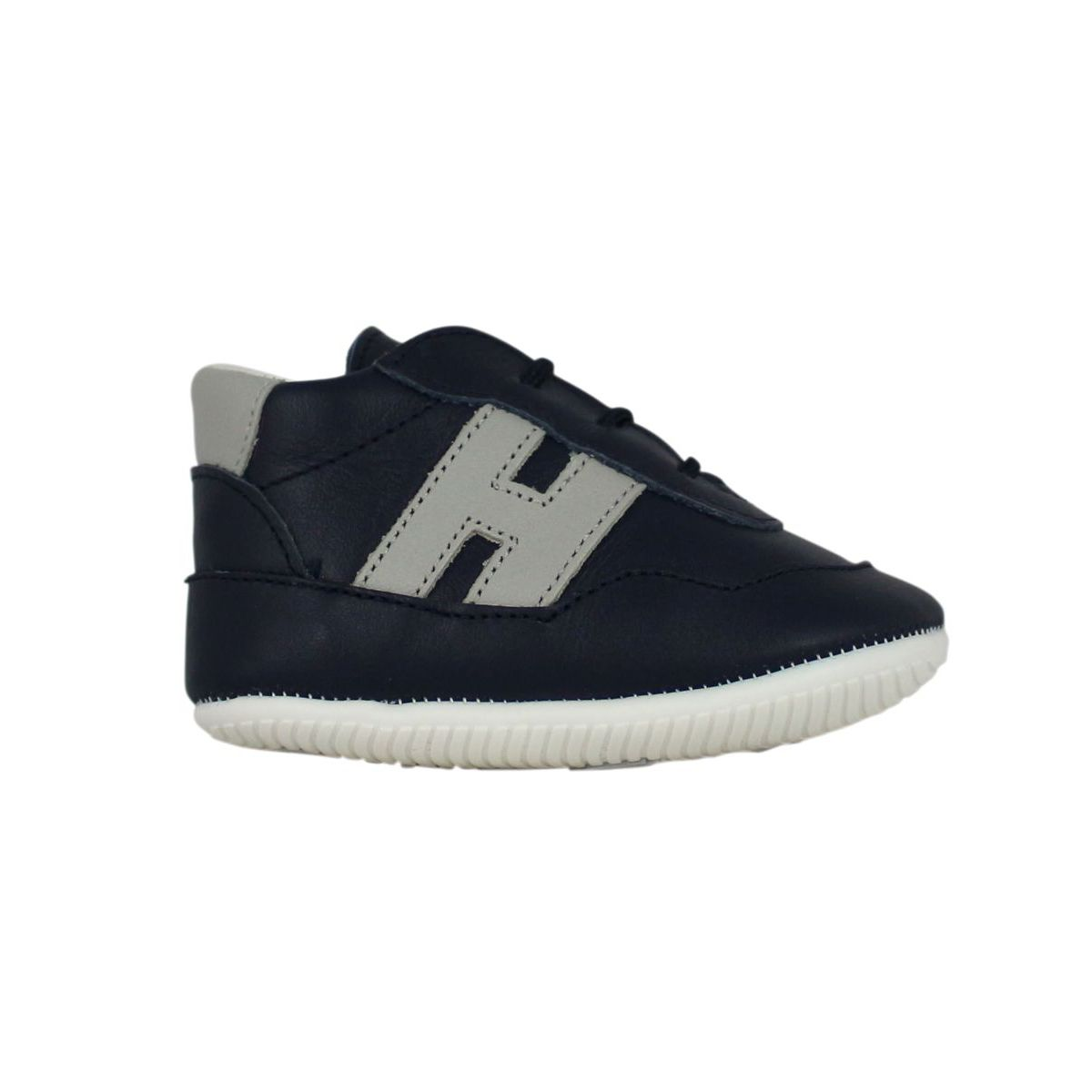 Sneakers with contrasting H Dark blue Hogan