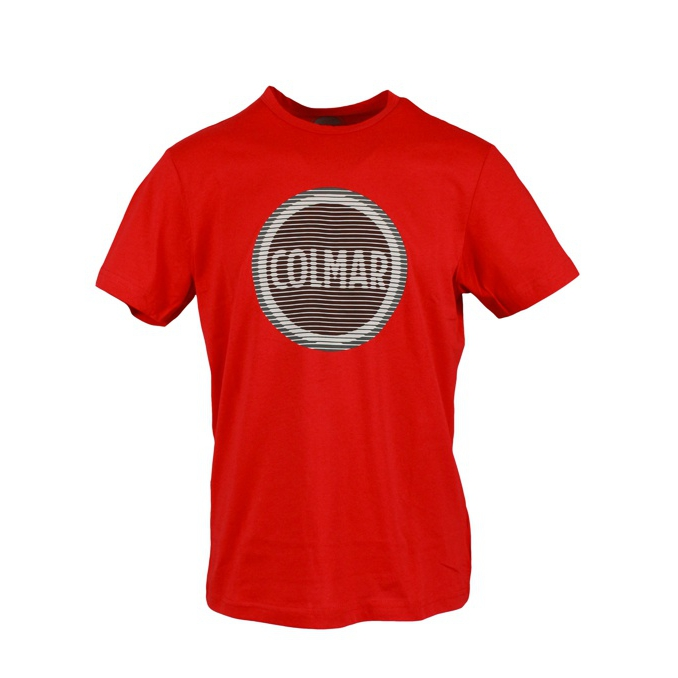 T-shirt with optical effect logo print Red Colmar