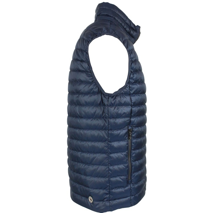 Full zip vest with front logo Blue Colmar