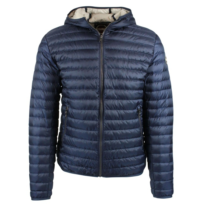 Down jacket with zip and hood Blue Colmar