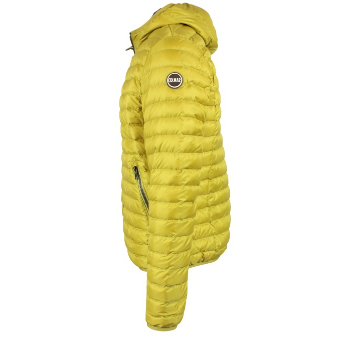 Down jacket with zip and hood Yellow Colmar
