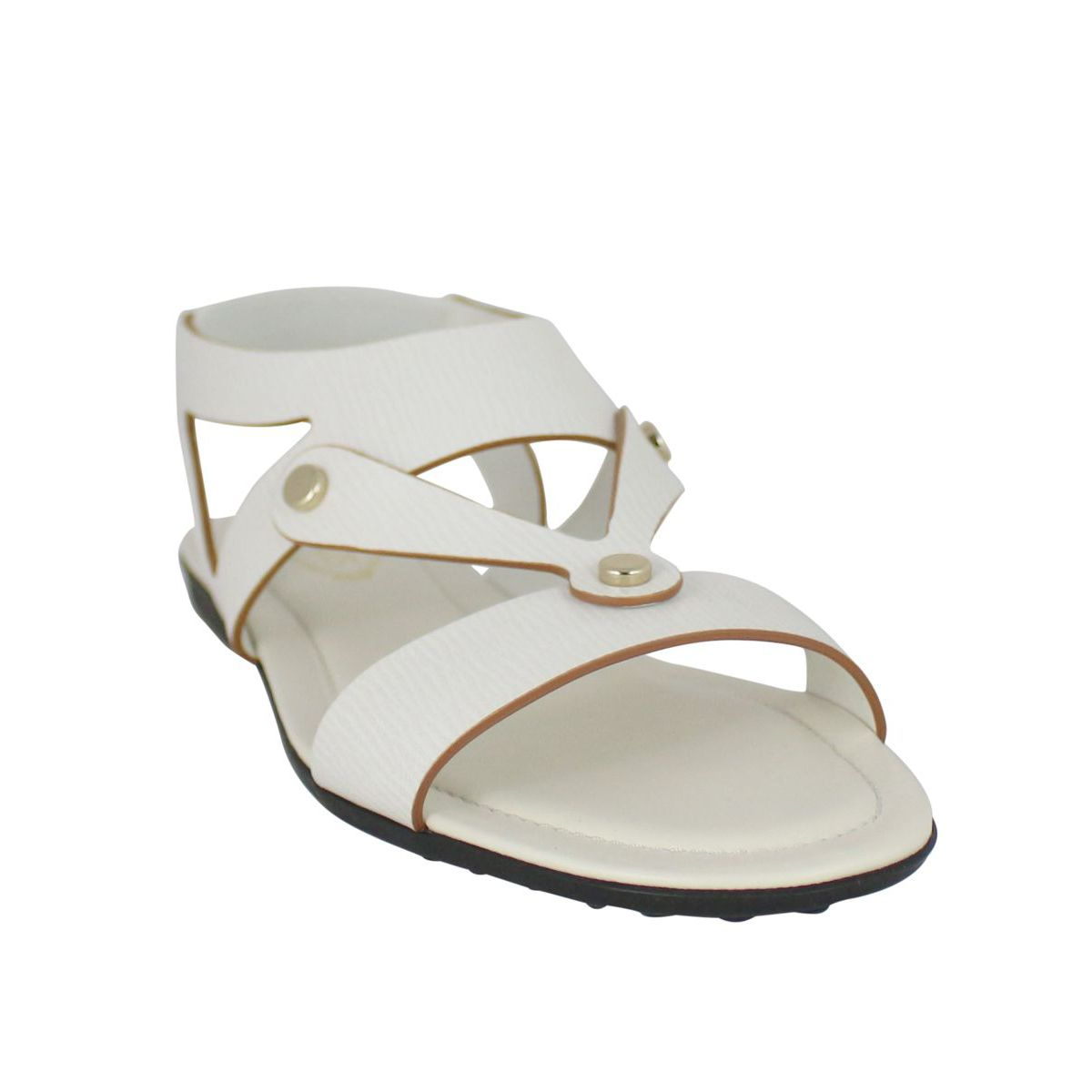 Buttons band sandal Cream Tod's