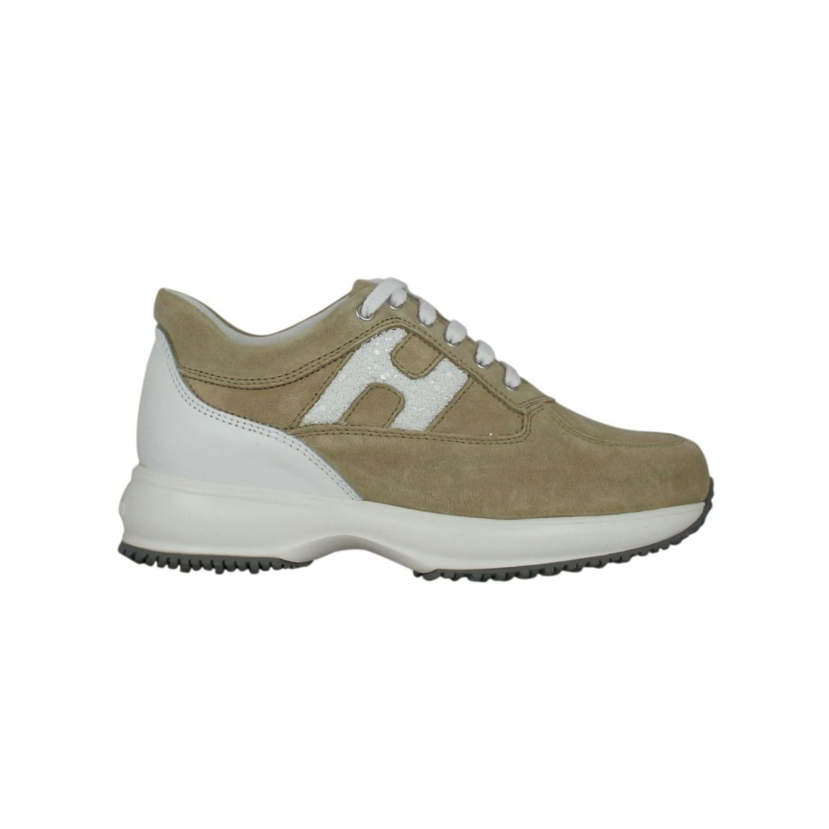 Two-tone Interactive Sneakers Beige Hogan