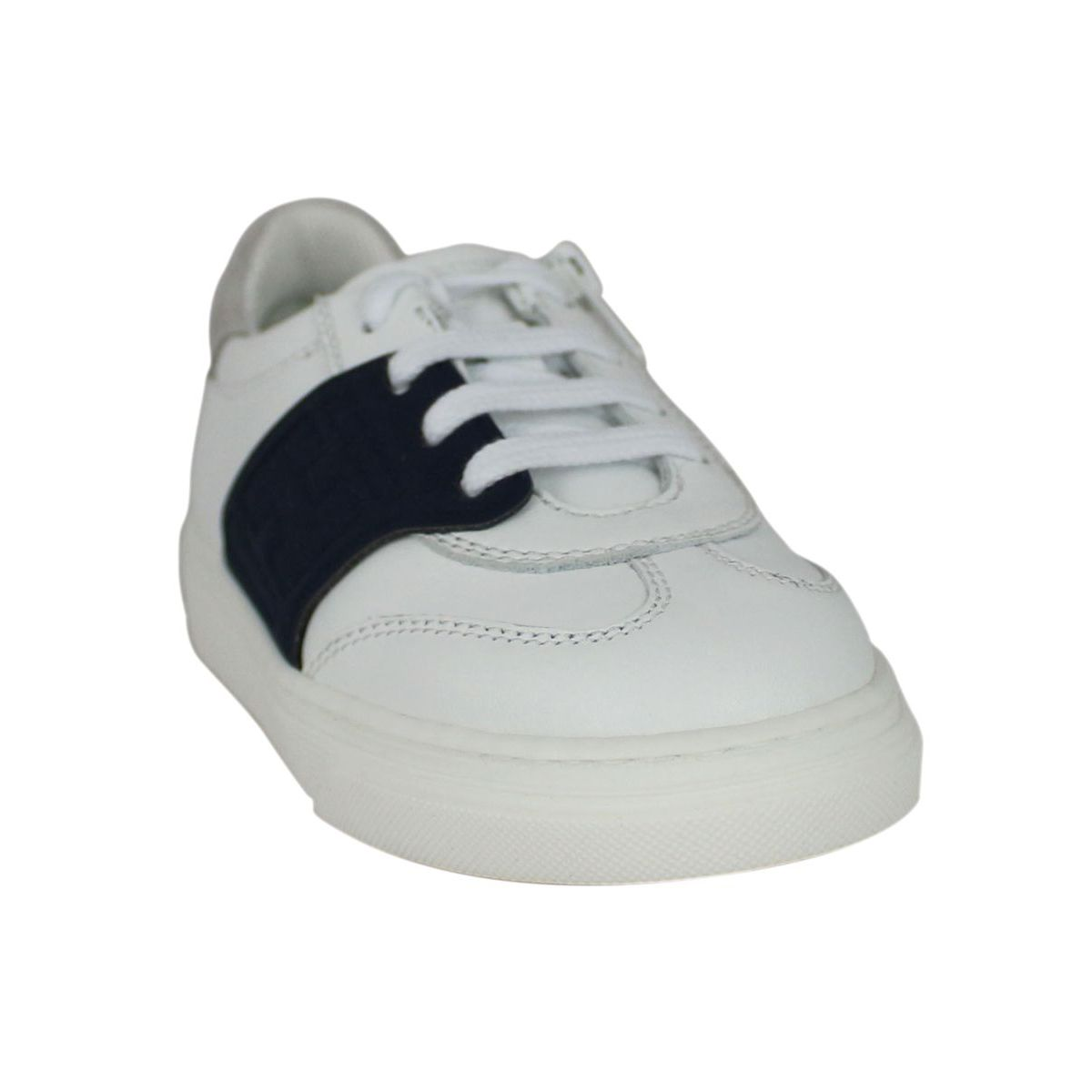 Sneakers with zip and contrasting band White Hogan