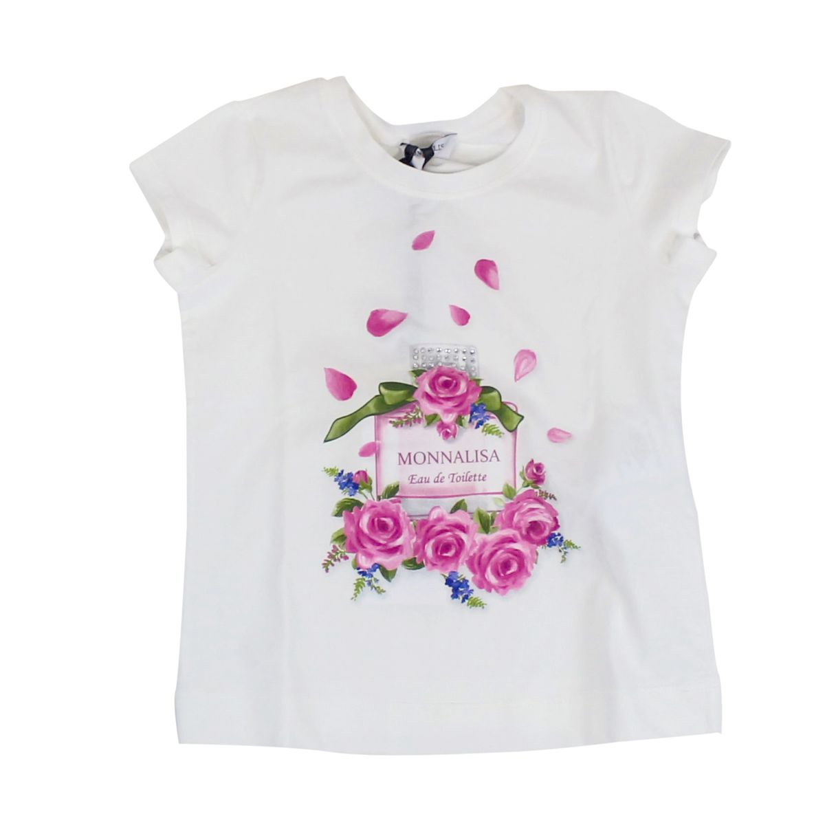 T-shirt with colored print Cream MONNALISA