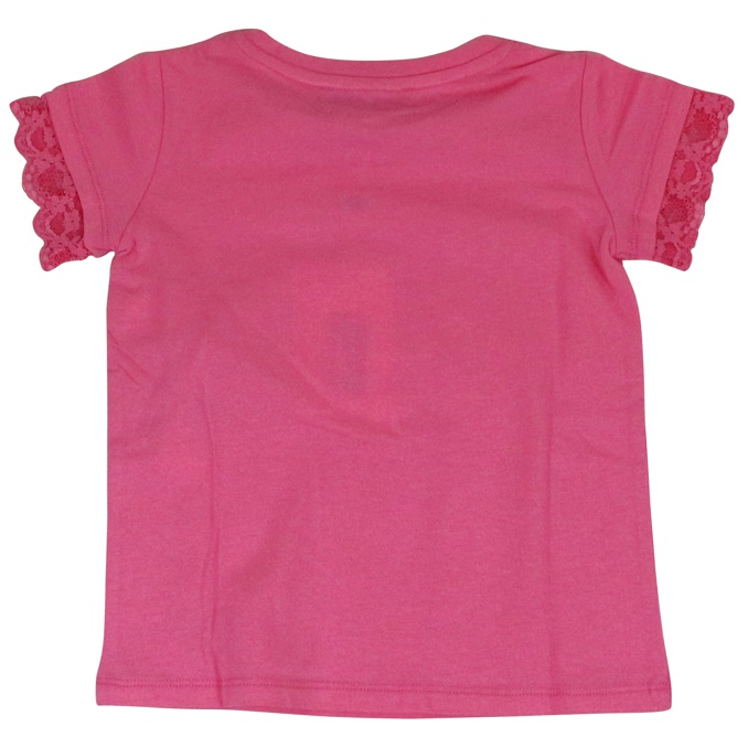 T-shirt with lace sleeves Rose Twin-Set