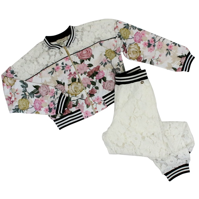 Suit with flowers and lace print Fant. floral Twin-Set