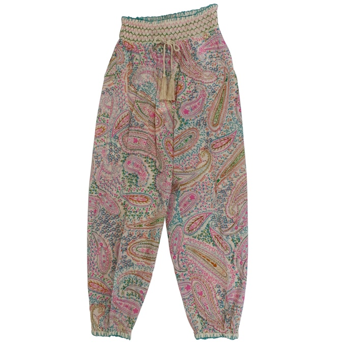 Trousers with elastic and paisley print Fantasy Twin-Set