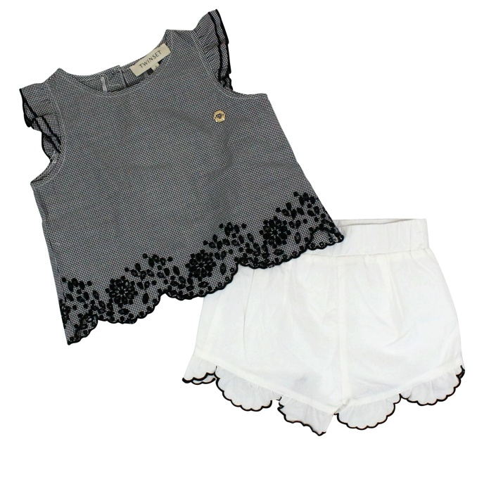Complete with Vichy print White black Twin-Set
