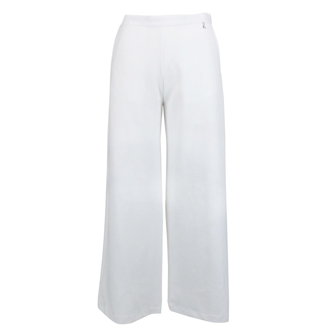 Wide stretch trousers White Patrizia Pepe
