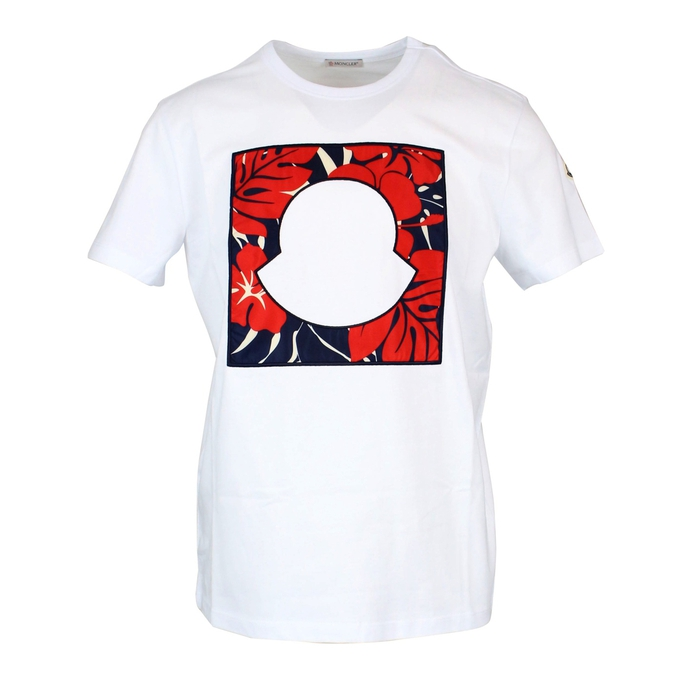 8b7b9f960 T-shirt with stylized logo White, Moncler 80447-50-8390t - CapoSerio.com