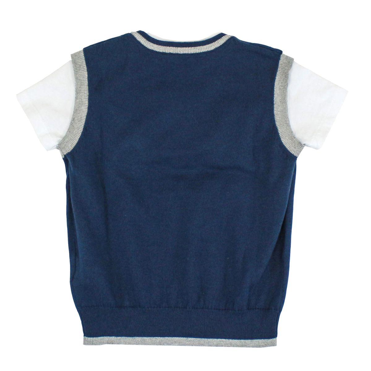 T-shirt with knitted vest Blue Bikkembergs