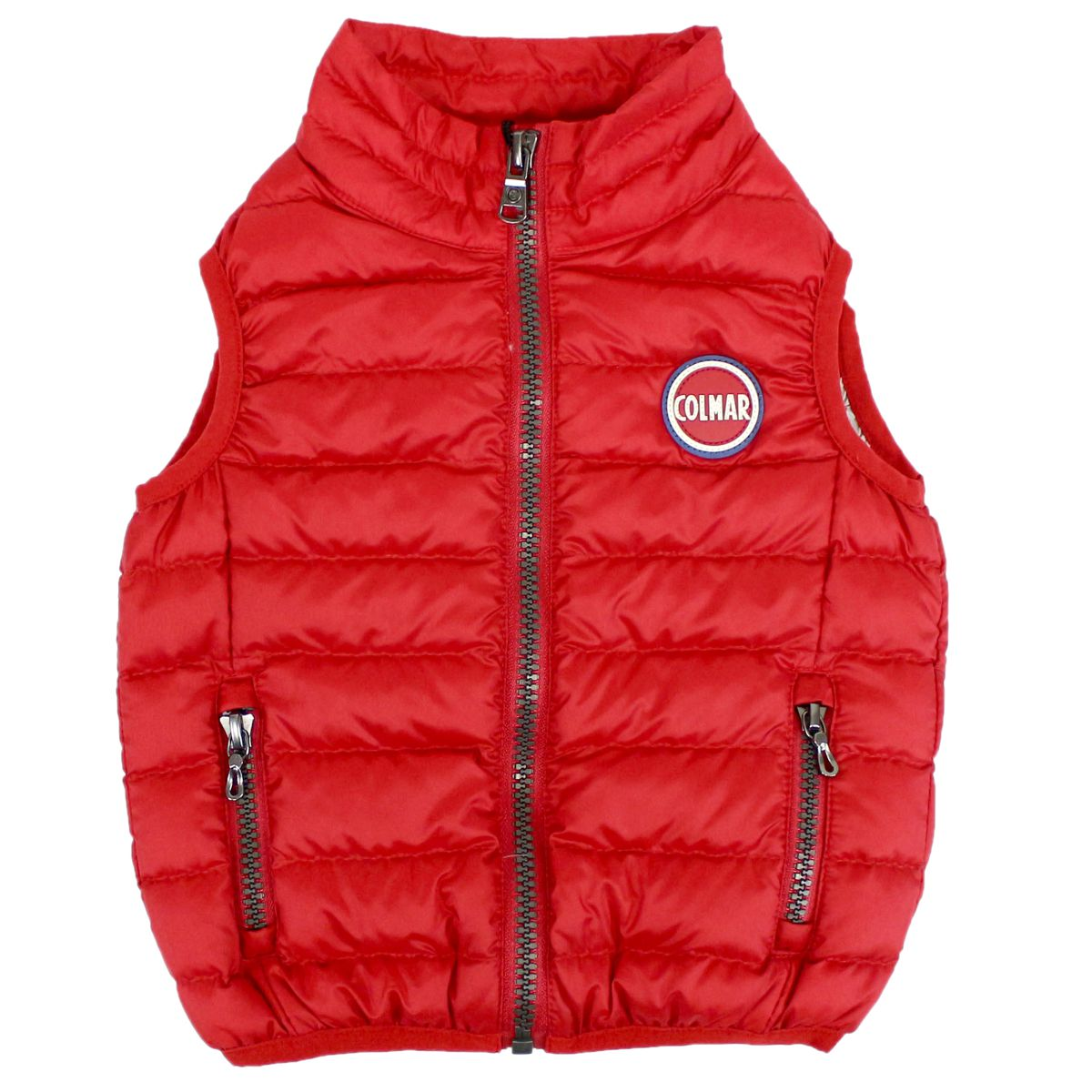 Duvet gilet in down jacket with zip Red Colmar