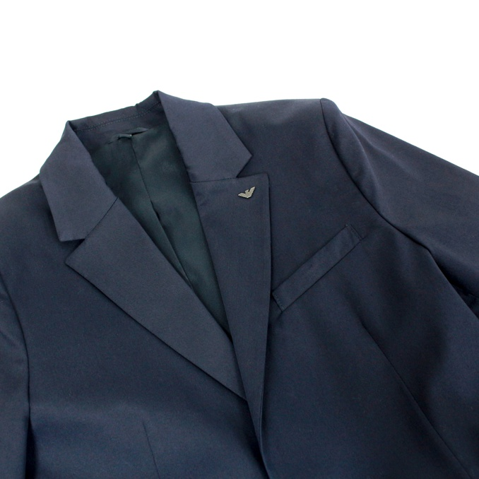 Classic stretch cotton suit Blue EMPORIO ARMANI