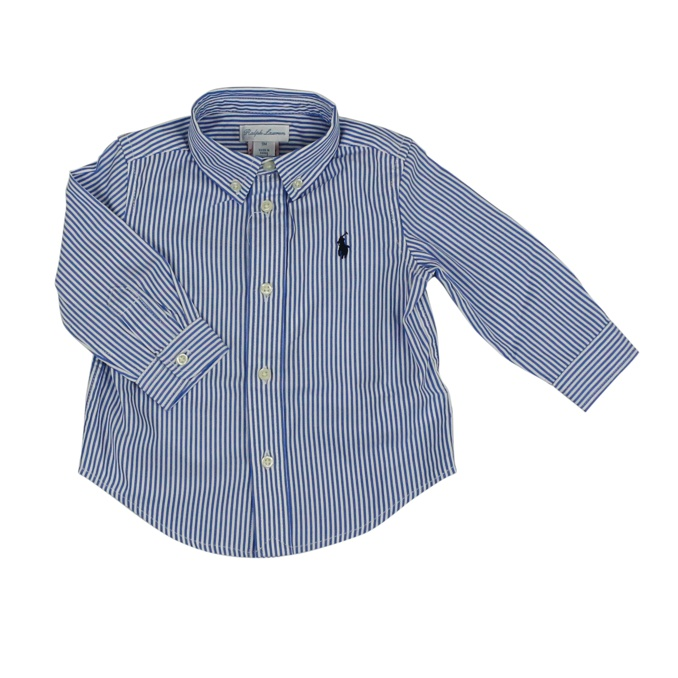 aa937760c Cotton shirt with logo White   blue Polo Ralph Lauren