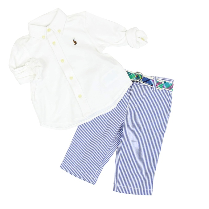 Complete two pieces White / blue Polo Ralph Lauren