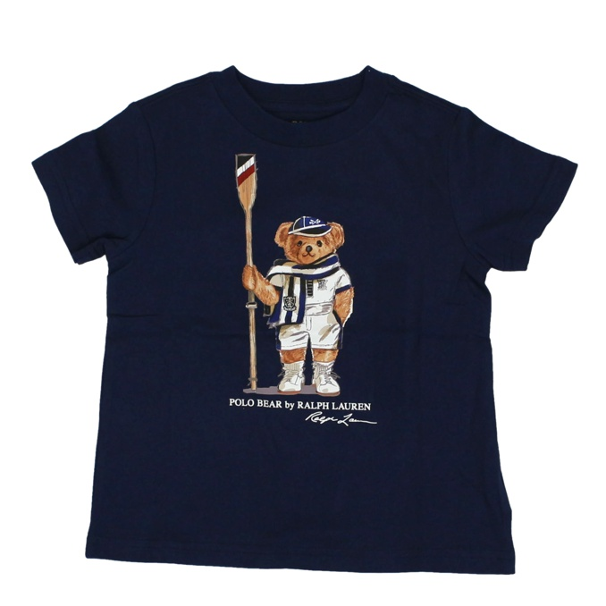T-shirt in cotone stampa bear Blu Polo Ralph Lauren