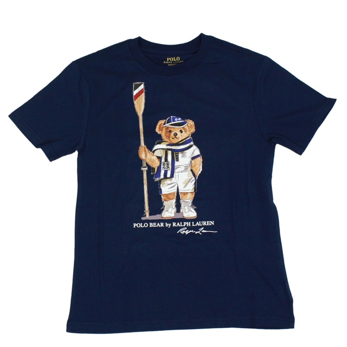 Short-sleeved T-shirt with bear print Blue Polo Ralph Lauren