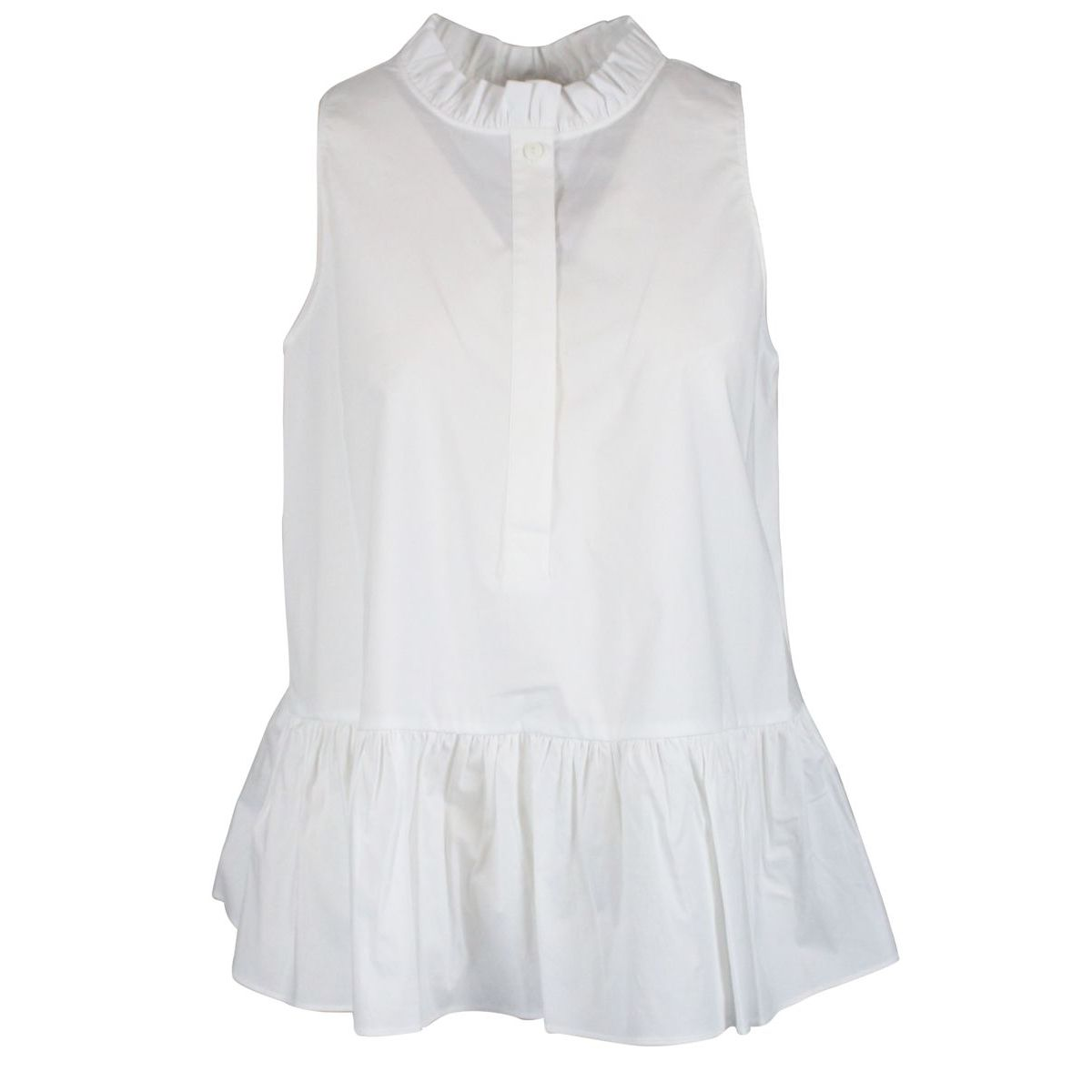 Flared top with flounce Optical white Twin-Set