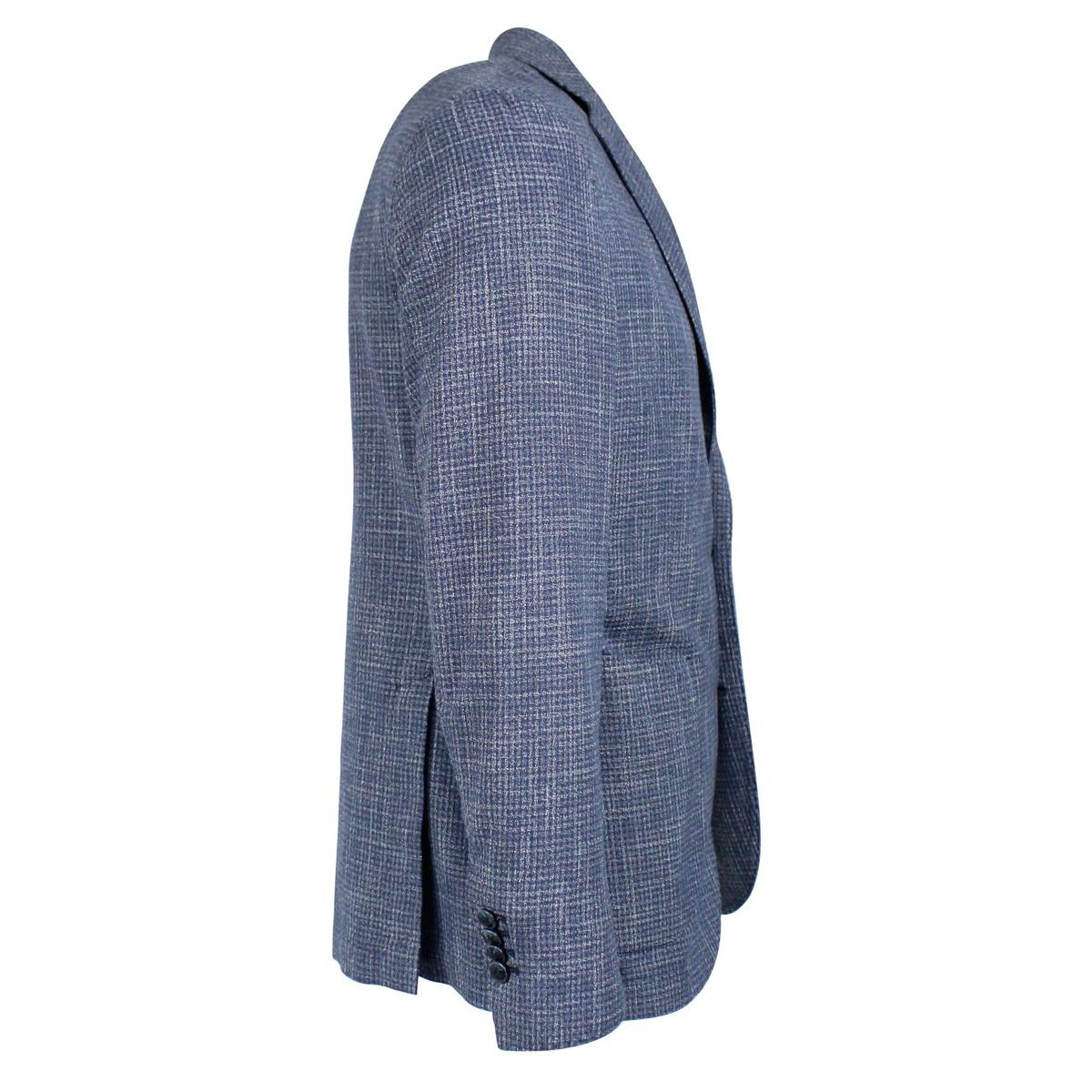 Linen blend jacket with two buttons Blue L.B.M. 1911