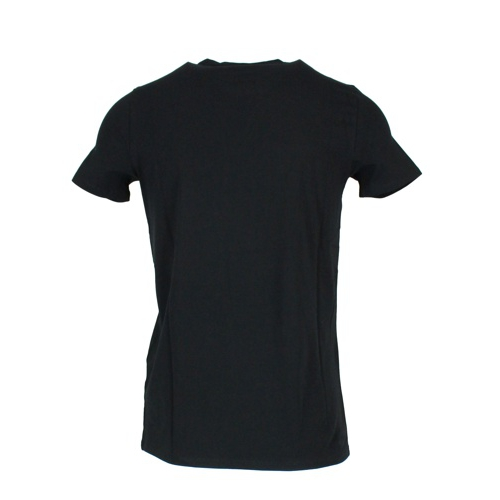 Logo stretch cotton t-shirt Black EMPORIO ARMANI