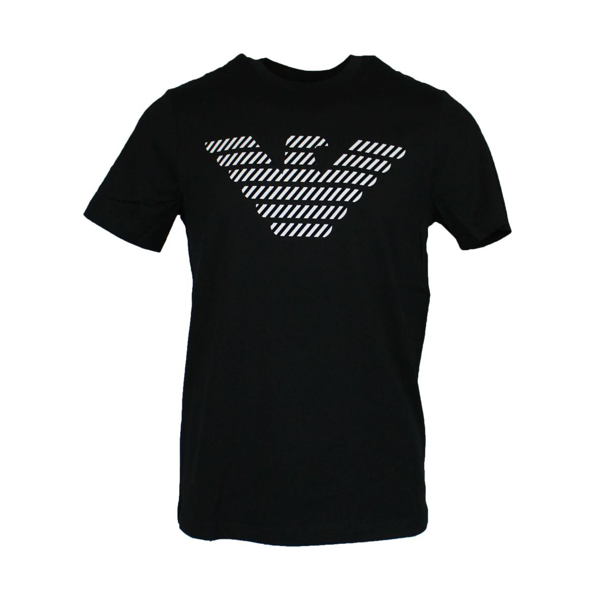 Cotton T-shirt with logo print Black EMPORIO ARMANI