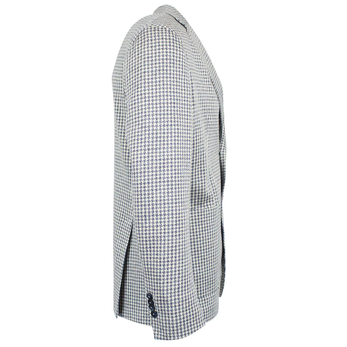 Regular single-breasted houndstooth jacket Grey L.B.M. 1911