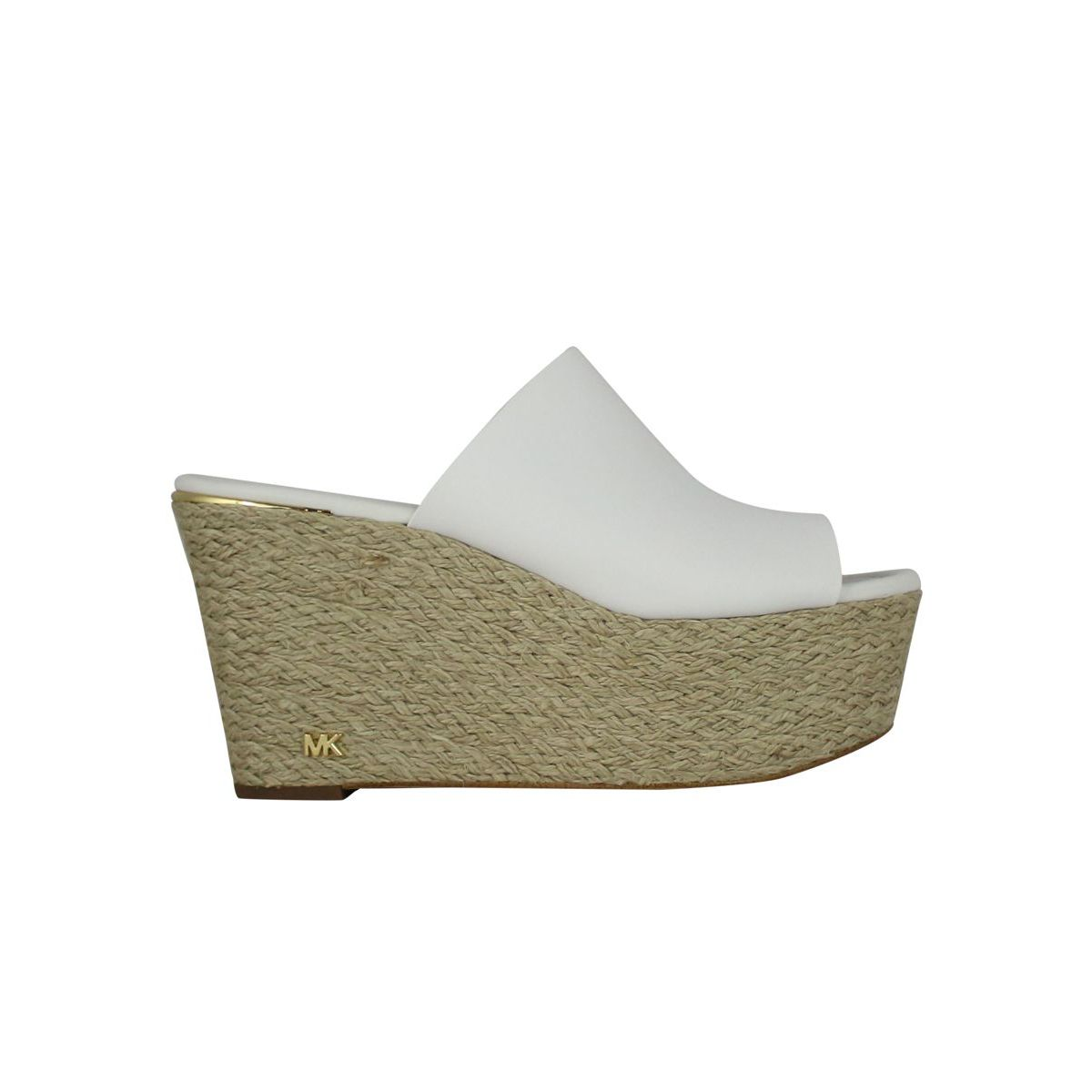 Cunningham Wedge Sandal Optical white Michael Kors