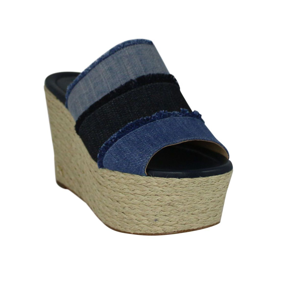 Cunningham Wedge striped sandal Denim Michael Kors