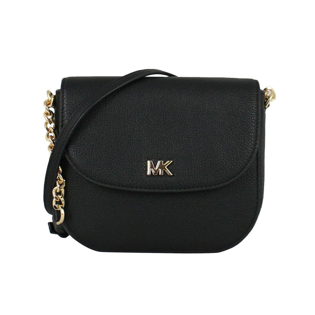 Half Dome shoulder bag in leather Black Michael Kors