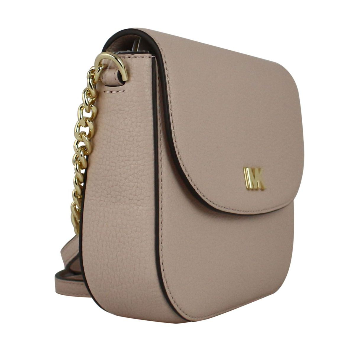 Half Dome shoulder bag in leather Powder pink Michael Kors