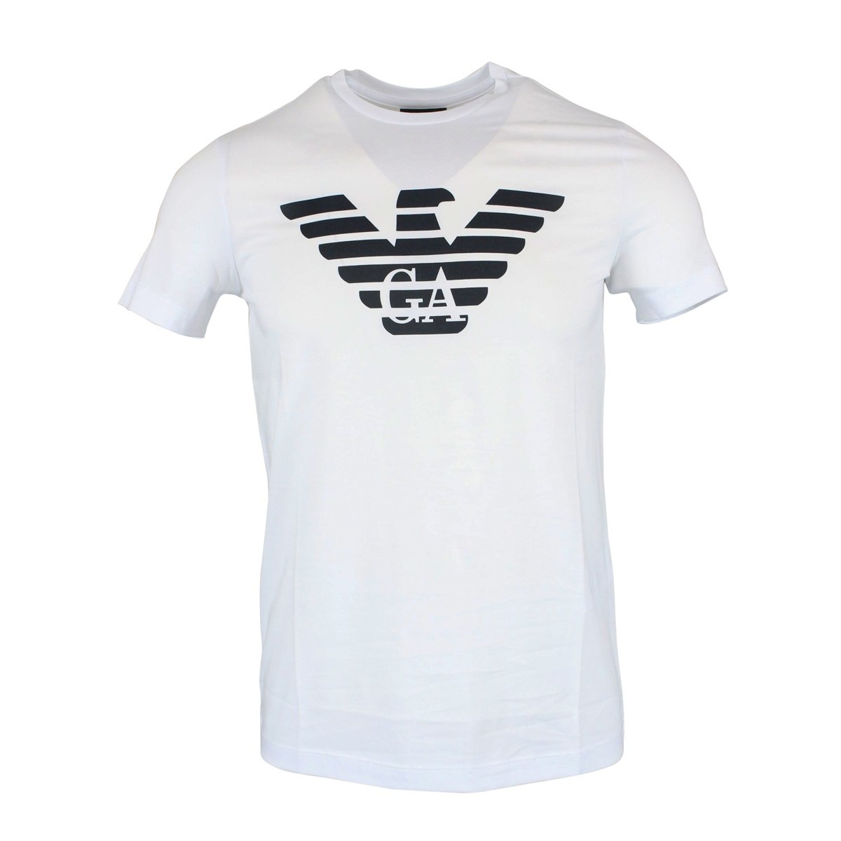 Cotton t-shirt with large central logo White EMPORIO ARMANI