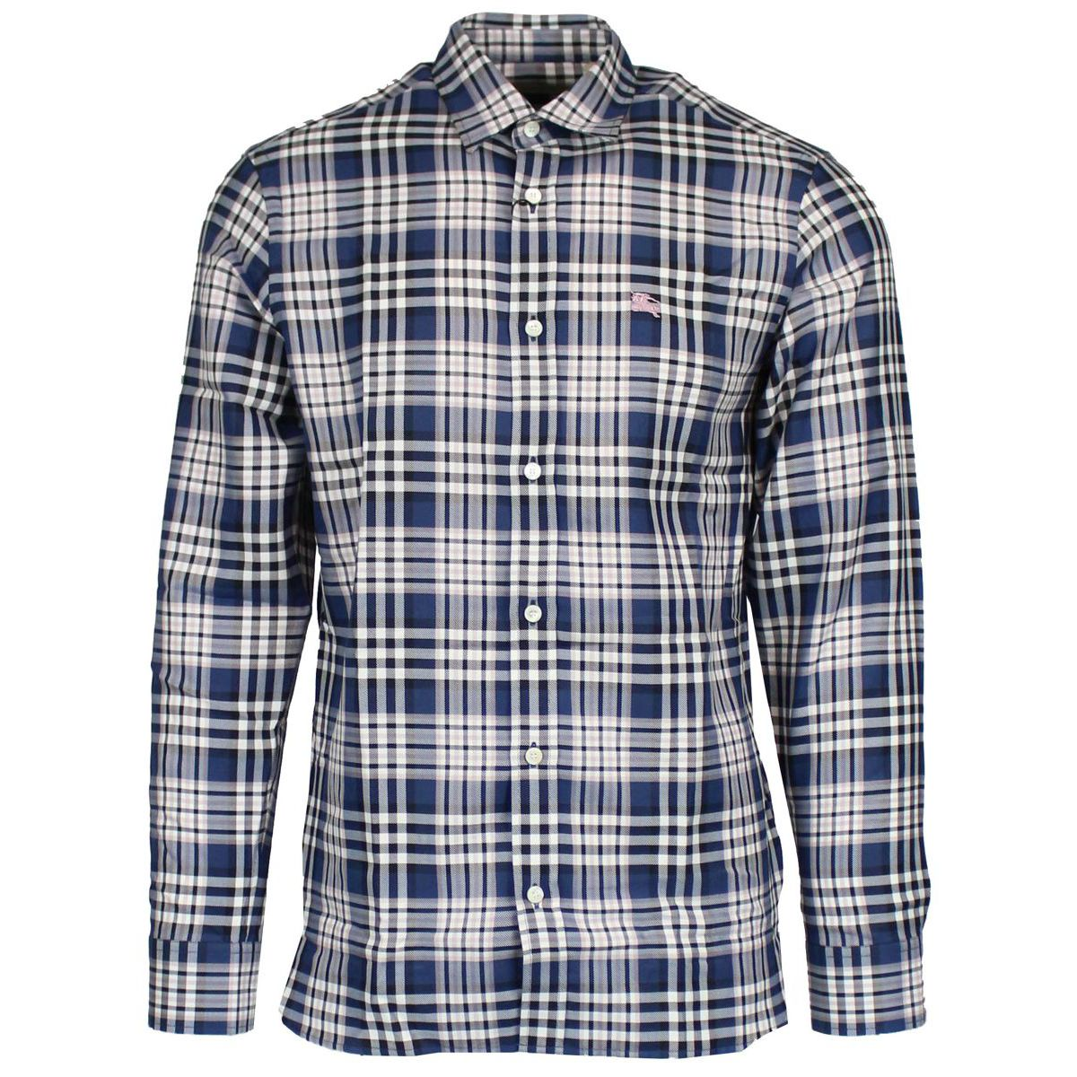 Edward shirt with logo embroidery Blue Burberry