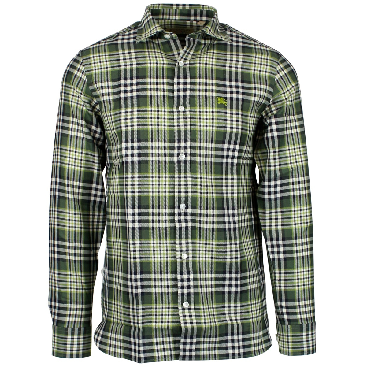Edward shirt with logo embroidery Green Burberry