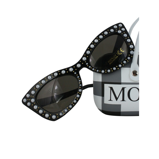 Sunglasses with beads Black MONNALISA