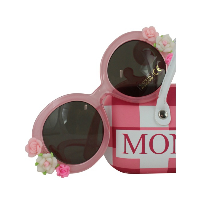 Sunglasses with flowers Fuchsia / white MONNALISA