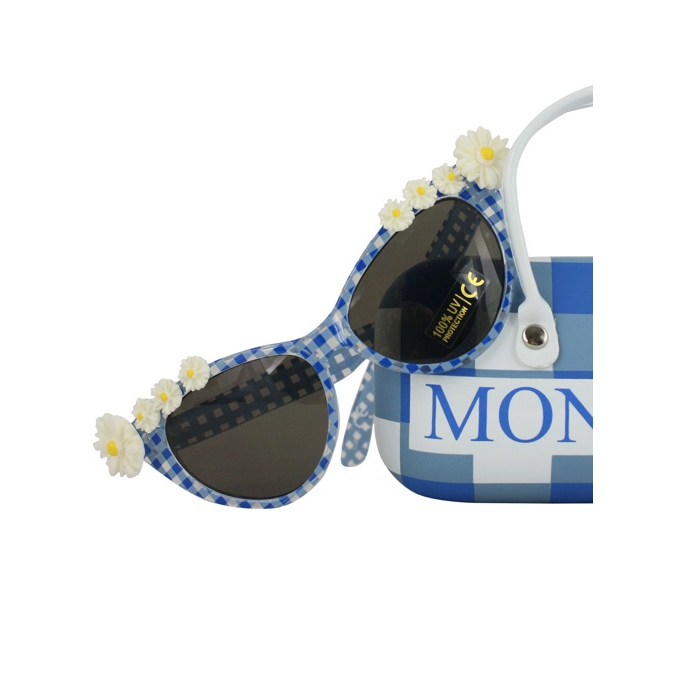 Sunglasses with applications Yellow blue MONNALISA
