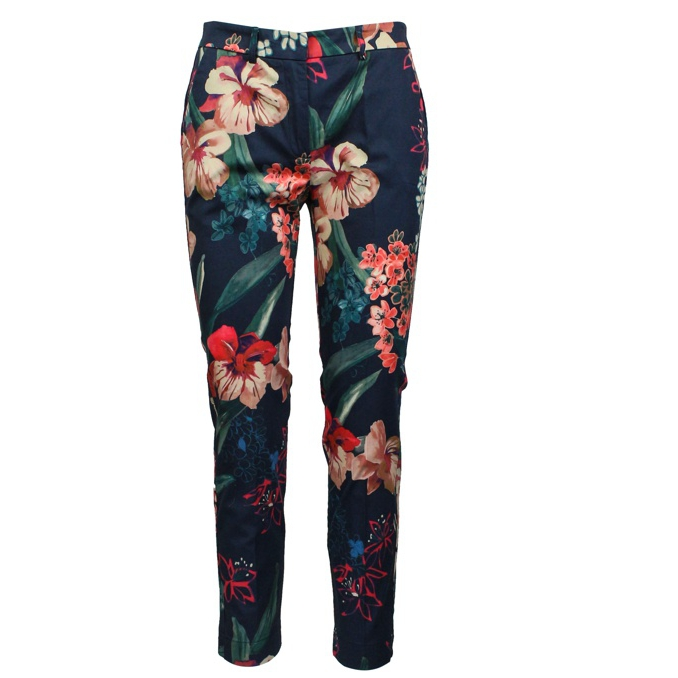 Floral stretch trousers Red / purple Jeckerson