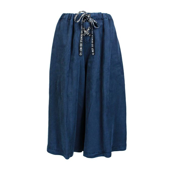 Wide trousers with laces Blue Jeckerson