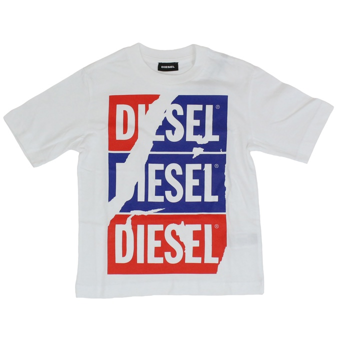 T-shirt with logo prints White DIESEL