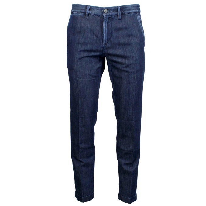 Anckle chino denim trousers Dark denim Jeckerson