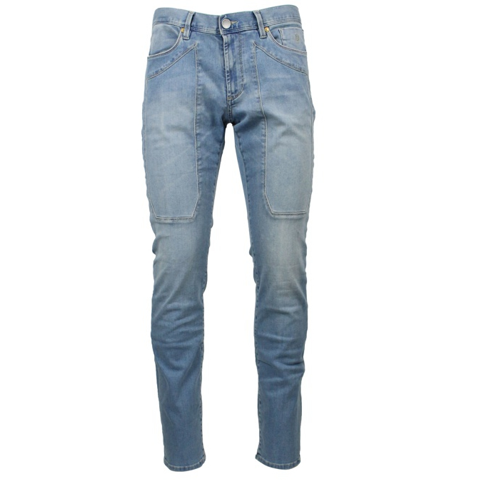 Slim Patch jeans with patches Light denim Jeckerson